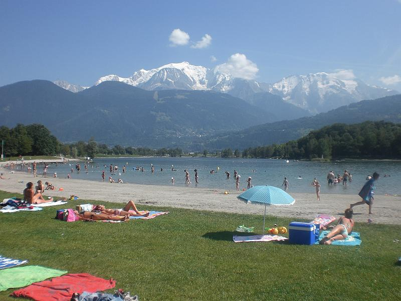 Lac Passy with the Mont Blanc